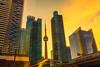 Toronto Sunrise (nixter) Tags: building canada tower bigcity city clouds cntower downtown glass lookup ontario sunrise toronto urban
