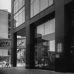 Google Dublin~ HWW (Wendy:) Tags: dublin google nik silvereffects windows reflections glass bridge hww