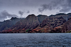 NaPali Coastline (AgarwalArun) Tags: sonya7m2 sonyilce7m2 hawaii kauai island landscape scenic nature views mountain fog clouds napalicoast pacificocean ocean water waves surf napali ruggedcoastline cliffs