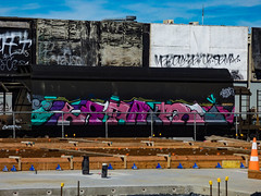 Paint My Wagon (Steve Taylor (Photography)) Tags: paintmywagon art graffiti tag streetart building construction concrete newzealand nz southisland canterbury christchurch rail railway tanker track wagon