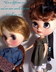 """Toy-in-the-Frame Thursday & Blythe-a-Day January#12: Red Heads&#19: Poet: """"A Different Corner"""""""