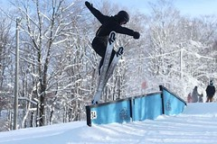 tail tap (antoinegosselin) Tags: fastshutterspeed tricks canon70200mm canont5i t5i cold sunny freestyle ski winter