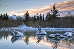 Magic Mirror Springs Explored #8 highest (John Andersen (JPAndersen images)) Tags: alberta banff canada canon6d cloudslongexposure dawn jpandersenimages morning mountrundle park reflections spring sunrise