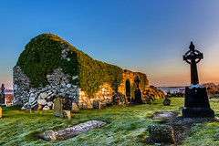 Sunrise at Addergoole (mike in mayo) Tags: addergoolecemetery titanic mayo ireland church cross graveyard sunrise lough conn lake scenic view canon 80d tokina 1116mm morning