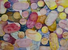 Pills (jegraphique) Tags: pills drugs watercolor pattern colors acuarela repetition