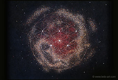 Expecting One ◆ V838 Monocerotis ◆ Day light off (muriellesunier) Tags: v838 monocerotis nebulaart art night space light universe birth children yourhubblepictures pregnancy outerspace cosmos expecting leds painting sacredgeometry phosphorescent spirituality zen meditation hubble glowinginthedark