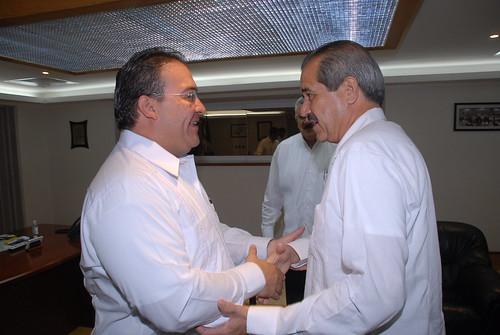 El gobernador Javier Duarte de Ochoa asiste a Reunión con Dr. José Ángel Córdova Villalobos