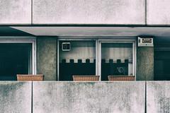 (Delay Tactics) Tags: london windows curtain blind planters flats apartments vent alarm balcony warning honeywell text concrete extractor fan hopperesque