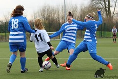 Libby's surrounded by Bradley Stoke players (B.East Photography) Tags: chippingsodburytownwomen chippingsodbury bradleystokeladies football fa field sport soccer sports womensfootball womenssport womens footy league 4gpitch pitch