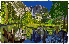 My Drawings - Yosemite National Park Falls and Merced River (thor_mark ) Tags: adobedraw adobeillustratordraw artdigital blueskies centralyosemitesierra digitalpainting glassreflections grassymeadow hillsideoftrees indiancanyon lakereflectionsonwater landscape lookingnorth mercedriver mountains mountainsindistance mountainsoffindistance nature outside pacificranges reflections reflectionsonlake reflectionsonwater river riverbank sierranevada trees triptopasoroblesandyosemite upperyosemitefall waterreflections waterreflectionsofmountains waterfalls yosemitefalls yosemitenationalpark yosemitepoint yosemitevalley yosemiterittersierranevada ipad ipaddrawing california unitedstates