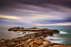 Waiting... (Anto Camacho) Tags: longexposure castellón clouds landscape seascape seashore mediterraneansea rocks wind water valenciancommunnity oropesadelmar