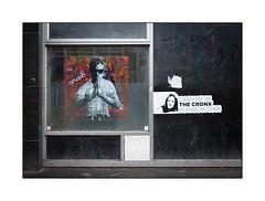 Street Art (Artgod), South London, England. (Joseph O'Malley64) Tags: artgod streetart urbanart graffiti southlondon london england uk britain british greatbritain poster sticker fingergraffiti art artist artistry windows vacantbuilding cladding aluminium panels grime dirt dust tarmac urban urbanlandscape fujix accuracyprecision