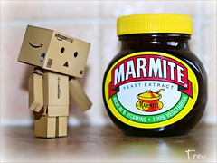 Undecided ... (Trev Grant) Tags: marmite unilever danbo 2015 amazoncojp danboard amazonpackaging 11thjune2015