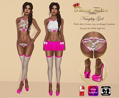 NAUGHTY GIRL - L$150 (princessfashion100) Tags: life mesh body spirit omega free sl second hunter marketplace breathe uber banned tmp lolas reign freebie slink bellza ryca dollarbie kitja pinkfuel wasabipills lelutka appliers labelmotion