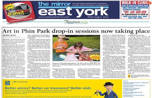 "Microsoft Word - Art in the Park East York Article Aug 7 2014 • <a style=""font-size:0.8em;"" href=""http://www.flickr.com/photos/90817668@N02/18833554614/"" target=""_blank"">View on Flickr</a>"