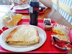 Yummy cheese toastie (Elysia in Wonderland) Tags: birthday park vacation food holiday paris france june cake cheese restaurant cola chocolate disneyland toast ham sandwich disney crisps ready express lays studios walt walkers coca zero parc backlot elysia toastie salted 2015