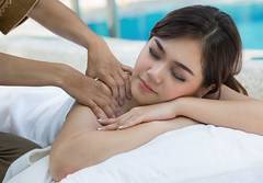 Masseur doing massage on woman body (anekphoto) Tags: woman pool girl beautiful beauty horizontal female asian thailand one back healthy hands asia pretty candle adult body young relaxing lifestyle professional indoors health massage thai attractive salon therapy care relaxation shoulder lowkey spa pleasure wellness treatment caucasian beautician lyingdown masseur bodycare closedeye massaging pampering pamper spasalon womanmassage spawoman womanspa