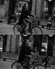 [La Mia Citt][Pedala] (Urca) Tags: portrait blackandwhite bw bike bicycle italia milano bn ciclista biancoenero mir bicicletta 2015 pedalare dittico nikondigitale ritrattostradale 75566