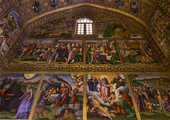 Artwork At The Church Of Saint Joseph Of Arimathea, Isfahan Province, Isfahan, Iran (Eric Lafforgue) Tags: travel art tourism church horizontal painting religious photography artwork mural asia christ iran cathedral interior religion decoration persia nobody nopeople christian indoors iranian orient esfahan province isfahan armenian ispahan vank إيران иран colourimage イラン irão isfahanprovince 伊朗 sepahan spadana 이란 hispahan iran150147