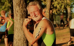 One of my other hobbies. (Shelby Townsend) Tags: tattoo triathlon rivercities cypresslake swimbikerun shelbytownsend