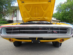 1970 Dodge Charger (blondygirl) Tags: auto car yellow roadtrip alberta dodge 1970 sa mopar rt charger dodgecharger morinville june20 dodgechargerrt 7thannual bumpertobumperhomehardware shownshine