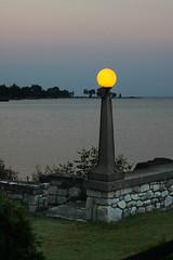 Lantern at Dusk (lefeber) Tags: light sunset plants wisconsin stairs dusk masonry steps lakemichigan stonewall lantern eggharbor rockwall doorcounty northwoods thealpineresort