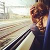 Tracks (Sator Arepo) Tags: window station train tracks traveller redhair braid nape iphone6