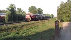 Hoge Zwaluwe. de trein van 07:15hr (Dick Boss) Tags: hoge spoor zonsopgang locomotief vroeg zwaluwe spoorwegovergang spoorlijn halvezolenlijn