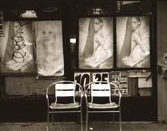 Beauty Salon Lower East Side 2015 (Meredith Jacobson Marciano) Tags: 35mm analog blackandwhite hairsalon beautysalon lowereastside minoltasrt201