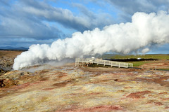 Gunnuhver Hot Spring (NaturalLight) Tags: gunnuhver hot spring iceland steam reykjanes peninsula