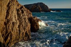 Ola eterna (juliosabinagolf.) Tags: nikon nikkor d3300 ola mar mediterráneo murcia roca paisaje risco agua acantilado