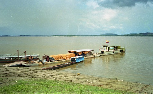 the ferry from Venezuela to Columbia on the Orinoco River, Puerto Ayacucho to Cazuarito