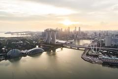 Extra Terrestrial (tterencechung) Tags: singapore singaporeriver singaporeflyer landscape drone phantom4pro aerialphotography sunset marinabaysands marinabay dji skypixels
