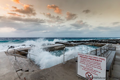 Confined Water (WhitcombeRD) Tags: wind westbay grand nature rough weather waves dock caribbean pool smooth caymanislands cayman gloomy ocean winter sea storm