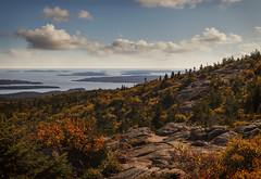 Cadillac Mountain [Explore] (NYRBlue94) Tags: peak summit cadillac maine acadia park ocean atlantic autumn fall island cloud