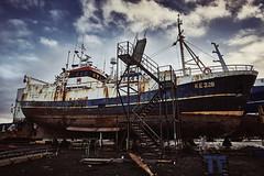 Ship in Shipyard (bacon.dumpling) Tags: keflavík iceland boat cloud cloudy drydock hull maintenance nikond750 nopeople nobody outdoor repair rust ship shipyard sigma24mmf14dghsmart sky