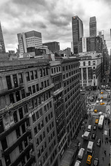 8N2A3949-2 (Mr Seahorse) Tags: mikejaneholidaynewyorkskyscraper city travel bw yellow cab desaturate