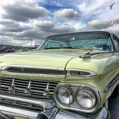El Camino (El Cheech) Tags: camino elco 59camino generalmotors gm chevrolet chevy carshow chrome grill clouds sky pomonafairplex pomonaswapmeet 1959 pickup truck classiccar car elcamino