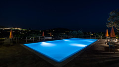 Pool View (lichtspur) Tags: highquality artclassvalue superb inspiredbylove isle elba isola travel pool longexposure longtimeexposure water blue colours view light ressort capoliveri night nightshot wide angle italia