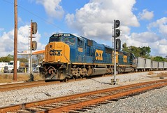 One More Shot (BravoDelta1999) Tags: csxt csxtransportation seaboardairline sal railroad valricosubdivision mulberry florida emd sd70m 4683 phosphate train