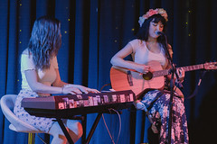 Jo and Momo (Slice of Jimmy) Tags: gig music geelong studio space jams art exhibition artist artists photo guitar piano keyboard vocals spacey free booze australia musician musicians muso people performer