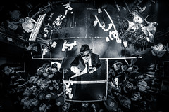 """""""The Blue Onions"""" from above (Andreas Mariotti) Tags: concert concertphotography blues brothers rock show stage fisheye samyang"""