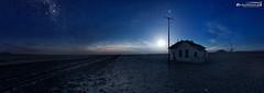 Waiting for a ghosttrain (dieLeuchtturms) Tags: karas 17x6 africa afrika forbiddendiamondarea garub khoekhoegowab milchstrase mond mondlicht nacht namib namibia panorama sandwüste sperrgebiet sternenhimmel wüste desert lunarlight moon moonlight night sanddesert starsky starrysky ǁkaras