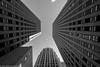 Embarcadero, San Francisco (NormFox) Tags: archetiture bw blackandwhite california city ebarcadero lines sanfrancisco sky skyscraper urban windows building