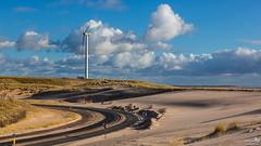 Maasvlakte 2 (BraCom (Bram)) Tags: bracom sand zand windmill windmolen windturbine road weg sign verkeersbord dunes duinen cloud wolk curve bocht sky rotterdam maasvlakte maasvlakte2 zuidholland nederland southholland netherlands holland canoneos5dmkiii widescreen canon 169 canonef24105mm bramvanbroekhoven maasvlakterotterdam nl