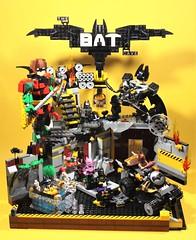 01_Bat_Cave (bbchai) Tags: lego batman batcave robin poster movie mobile segway