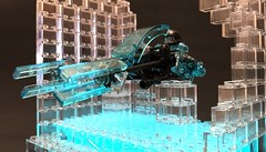 JYL-3000 - Nightline City Speeder (adde51) Tags: adde51 lego moc speeder lsb nightline city contest future transclear blue transblue speeders foitsop bike