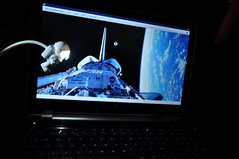 EVA (Andyleach) Tags: light keyboard eva earth walk laptop space nasa usb shuttle activity tethered qwerty esa extravehicular