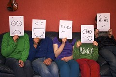 Faces (MigKenzie Photos) Tags: family portrait people silly paper happy faces group creative angry confused inside a4 embarrassed shocked macleods