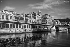 Bilbao (luís werlang) Tags: bw rio canon river blackwhite spain espanha bilbao paísvasco paisbasco canon60d